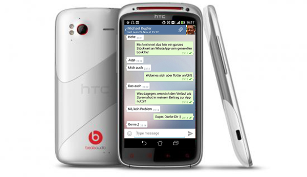 telegram htc android sensation xe white1