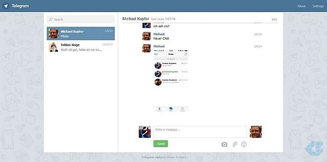 Webogram or using Telegram in my PC