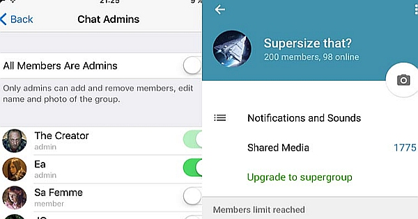 Telegram Messenger App Updated – Part 2: Supergroups